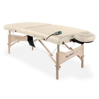 Earthlite Portable Sports Therapy Table, Vibra-Therm, Vanilla Crème