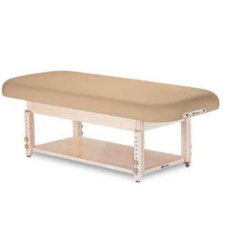 Earthlite Stationary Massage Table, Flat, SEDONA with shelf base
