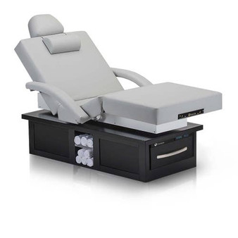 Earthlite Electric Lift Massage Table, Salon, EVEREST ECLIPSE, Sterling with Salon Package