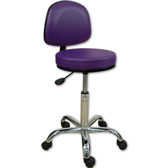 Oakworks Professional Stool with Backrest, coal
