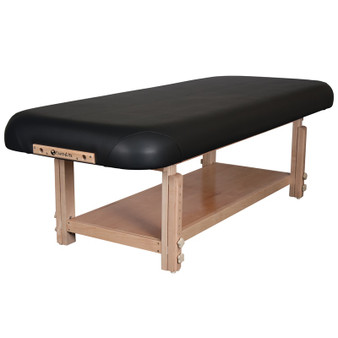 Earthlite Stationary Massage Table, Flat Top, Bottom Shelf, TERRA