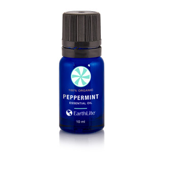 Earthlite Organic Essential Oils Single-Note, 10ml, PEPPERMINT