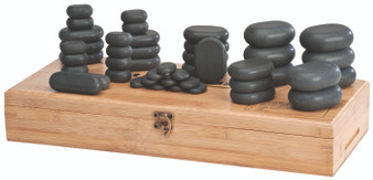 Custom Craftworks Massage Stone Set with Cool Stones, 45 piece