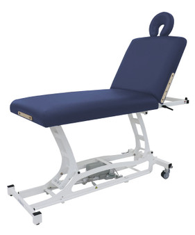 Custom Craftworks Classic Electric Massage Table, HANDS-FREE LIFT BACK  - Navy