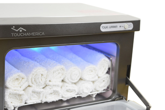 Touch America UV Sanitizing Hot Towel Cabinet, SMALL with towels
