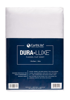 Earthlite Massage Table Sheet, Flannel, Flat, DURA-LUXE, White