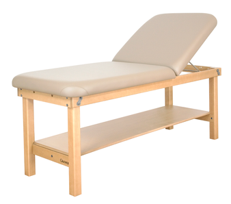 Oakworks Stationary Massage Table, Wave Backrest, SEYCHELLE