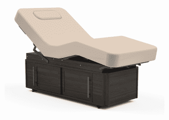 Oakworks Spa Salon Top Massage Table, CELESTA, Wooden Cabinet