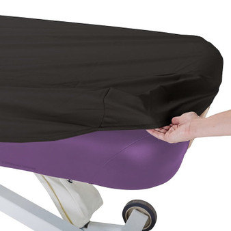 Earthlite Professional Massage Table Cover - black with round corners closeup