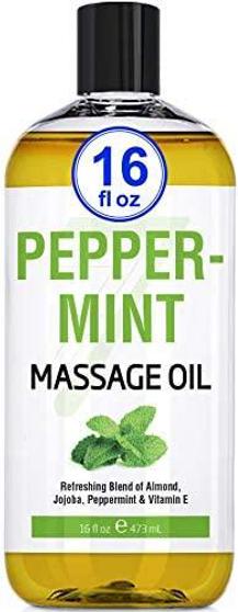 Seven Minerals Massage Oil, PEPPERMINT, 16oz