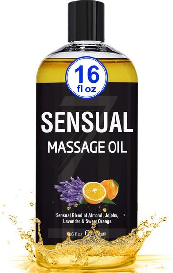 Seven Minerals Massage Oil, Sensual, 16oz