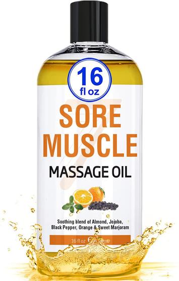 Seven Minerals Massage Oil, Sore Muscle, 16oz