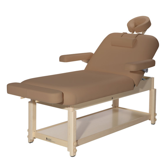 Custom Craftworks Aura Lift Back Massage Table, Otter