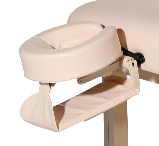 Custom Craftworks Aura Lift Back Massage Table Head Rest