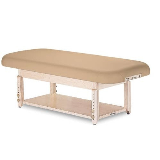 Earthlite Stationary Massage Table, Flat, SEDONA with shelf base