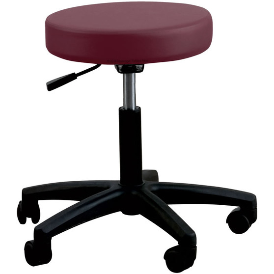 Oakworks Massage Therapist Basic Rolling Stool Ruby