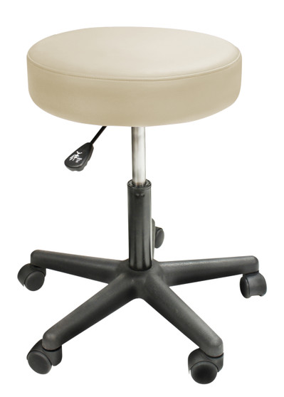 Custom Craftworks Massage Therapist Rolling Stool, Solutions, Beige