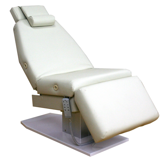 Touch America Spa Treatment Chair/Table, Powered Lift, EMPRESS, White