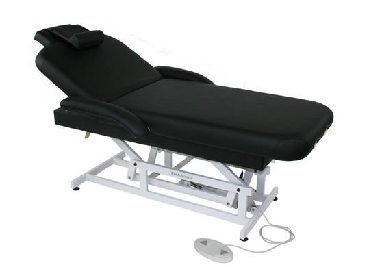 Touch America ADA Powered Lift Treatment Table, HILO FACE & BODY (shown with add-on accessories not included)