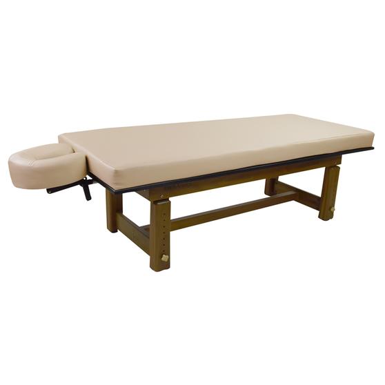 Touch America Outdoor Massage Table, SOLTERRA Teak, Almond