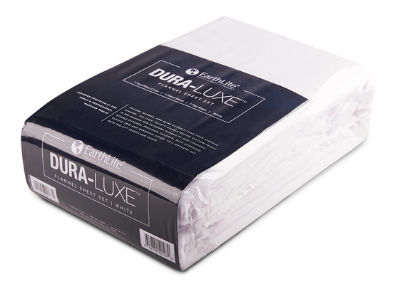 Earthlite Massage Table Sheet, Flannel, Set, DURA-LUXE, White