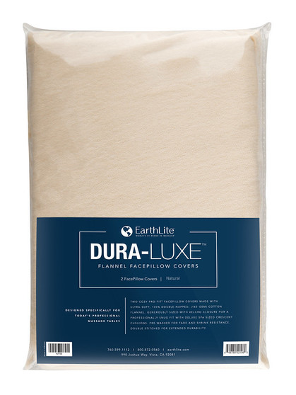 Earthlite Massage Table Sheet, Flannel, FacePillow, DURA-LUXE, Natural