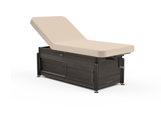 Oakworks Massage Table, Hydraulic Lift-Assist Backrest with cabinet