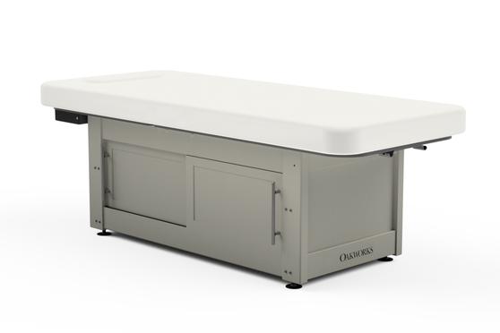Oakworks Massage Table, Electric/Hydraulic Flat Top, CLINICIAN PREMIERE