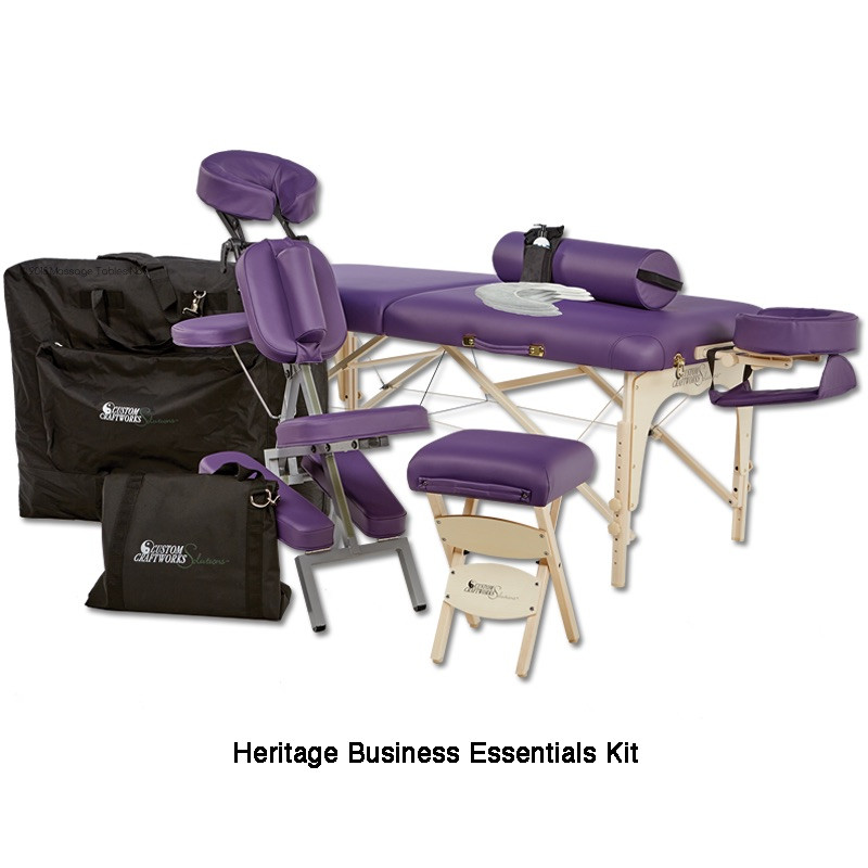 Custom Craftworks Solutions Heritage Massage Table-business essentials kit