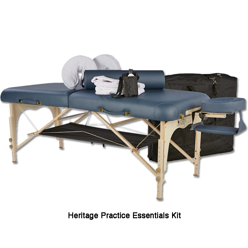 Custom Craftworks Solutions Heritage Massage Table-practice essentials kit
