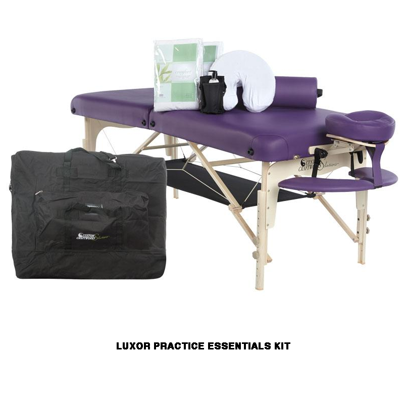 Custom craftworks Luxor Portable massage table-practice essentials kit