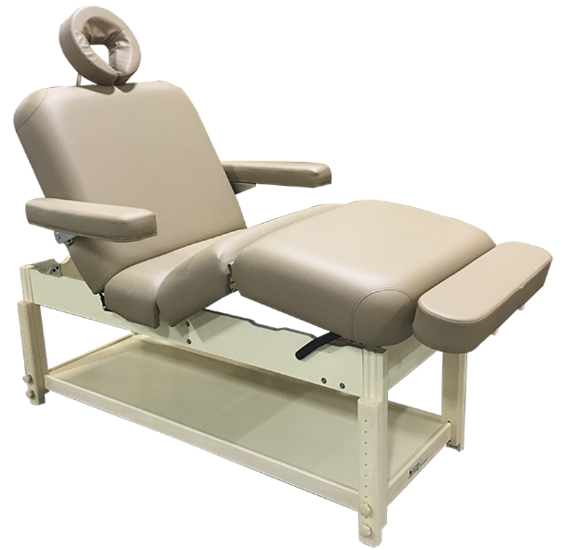 Custom Craftworks AURA DELUXE Stationary Massage Table with face rest