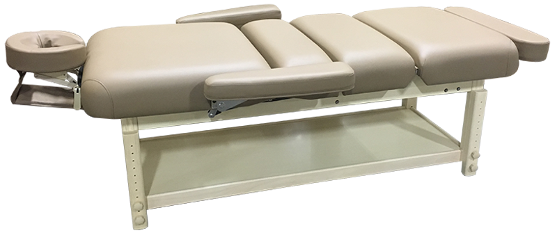 Custom Craftworks AURA DELUXE Stationary Massage Table flat