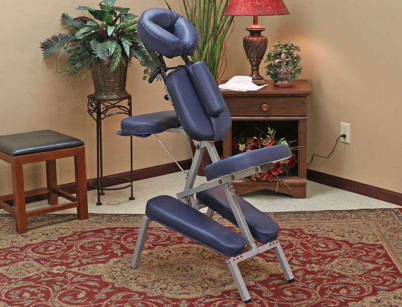 Custom Craftworks Portable Melody portable massage chair in use
