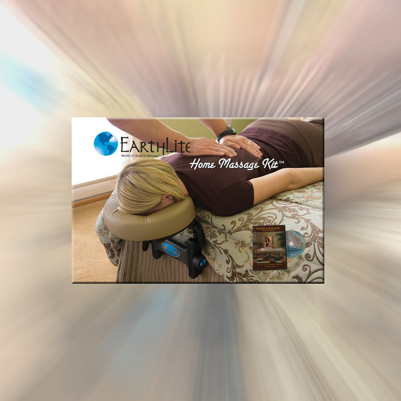 EarthLite Home Massage Kit - in use