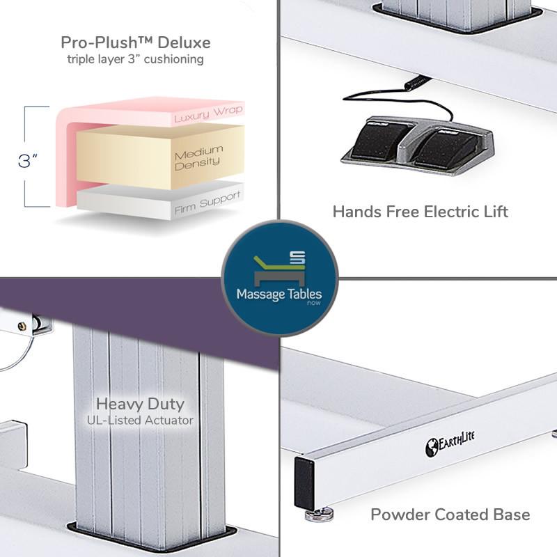 Earthlite Everest Tilt Electric Lift Massage Table - features