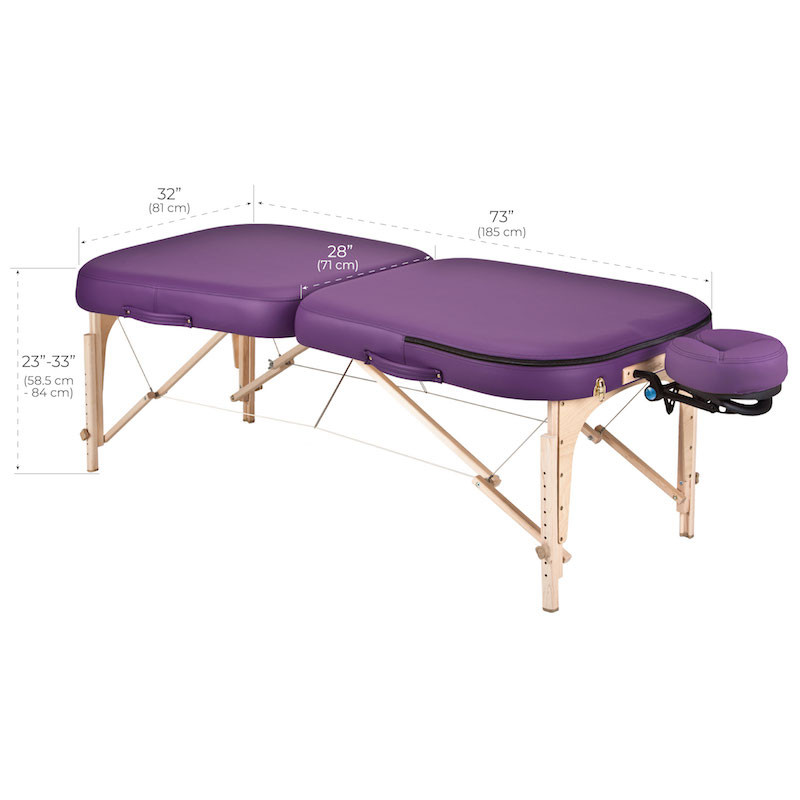 Earthlite Infinity Conforma Portable Massage Table dimensions
