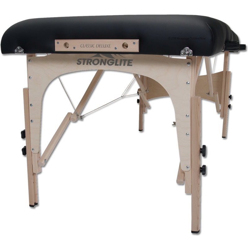 Stronglite Classic Deluxe Portable Massage Table Package-reiki end plate