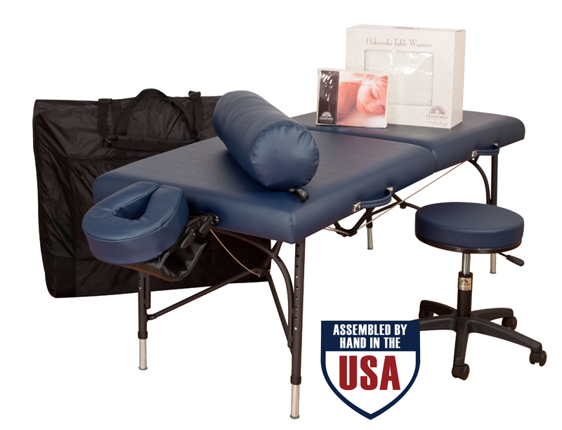 Oakworks Portable Massage Table, Aluminum Base, WELLSPRING Ultimate Package