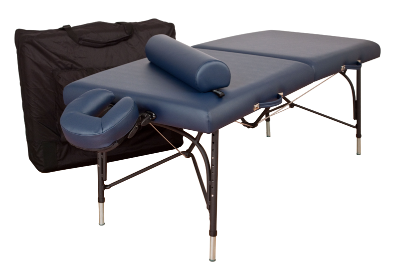 Oakworks Portable Massage Table, Aluminum Base, WELLSPRING Essential Package