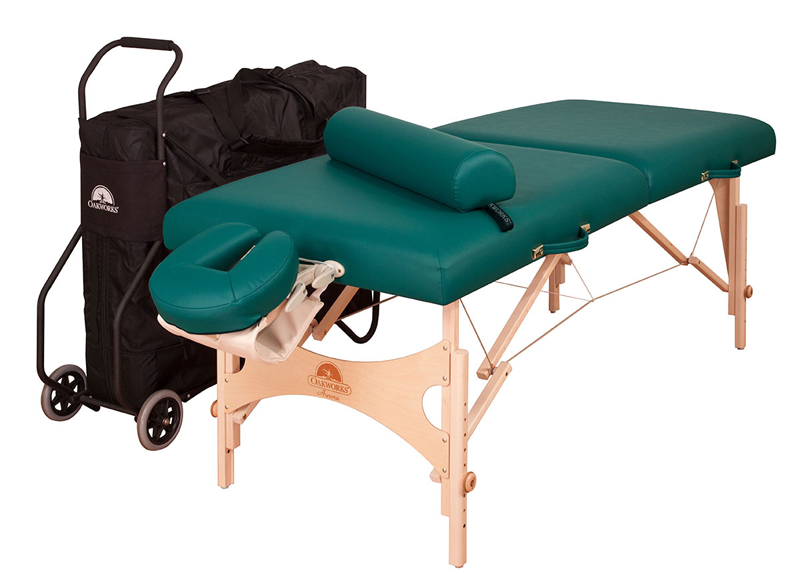 Oakworks Portable Massage Table, AURORA with Traveler Package