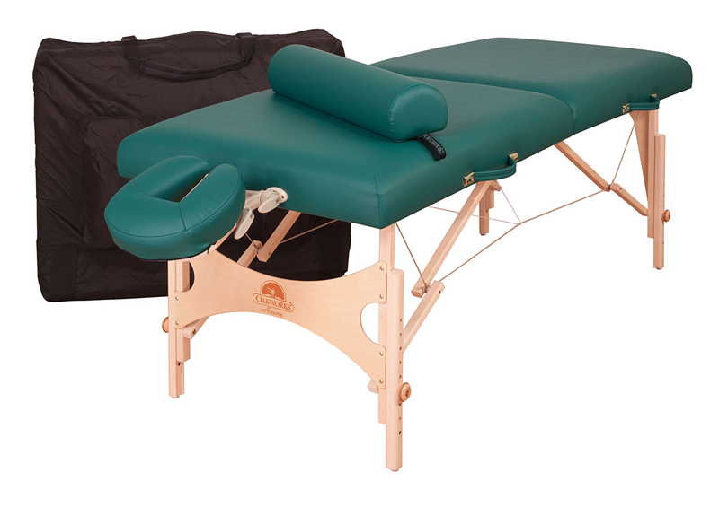 Oakworks Portable Massage Table, AURORA with Essentials Package