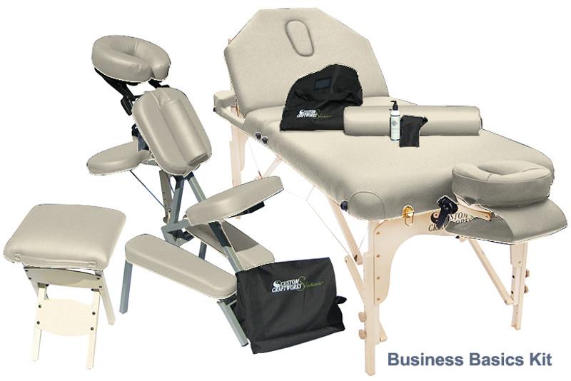 Custom Craftworks DESTINY LIFT BACK Portable Table Package, Business Basics Kit