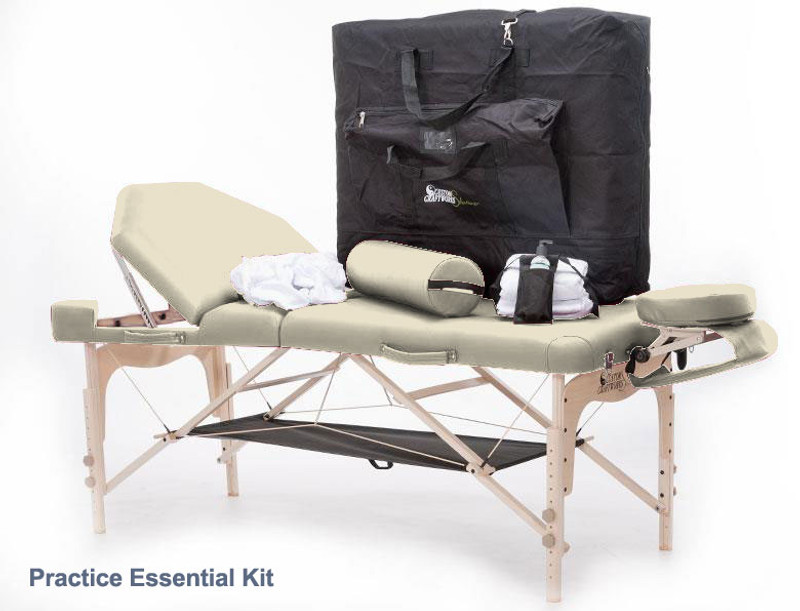 Custom Craftworks DESTINY LIFT BACK Portable Table Package, Practice Essential Kit