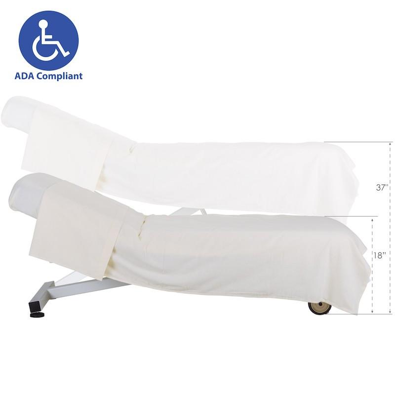 Earthlite Ellora Tilt Stationary Massage Table- ADA height range