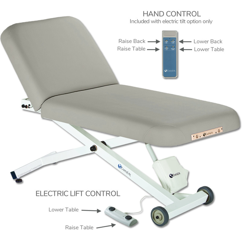 EarthLite Ellora Tilt Stationary Massage Table- hand control