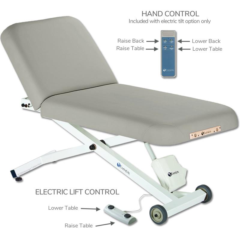 Earthlite Ellora Tilt Stationary Massage Table- hand control