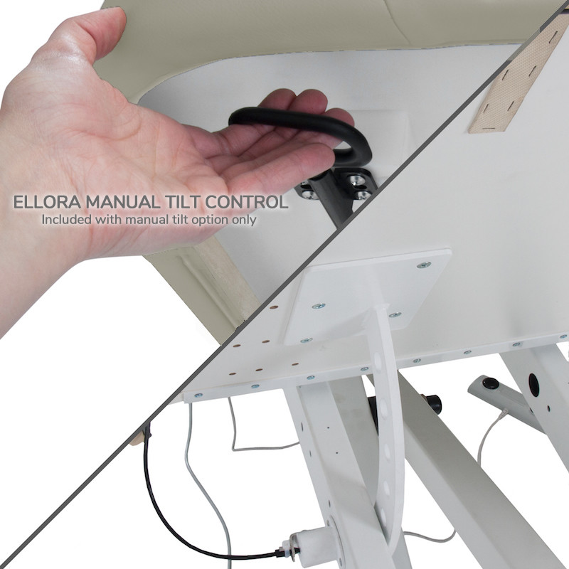 EarthLite Ellora Tilt Stationary Massage Table-manual tilt
