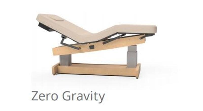 Oakworks Electric Salon Top Table, Performalift zero gravity position