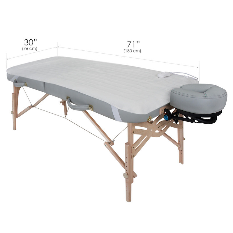 EarthLite Body Workers Choice Massage Table Warmer-dimensions